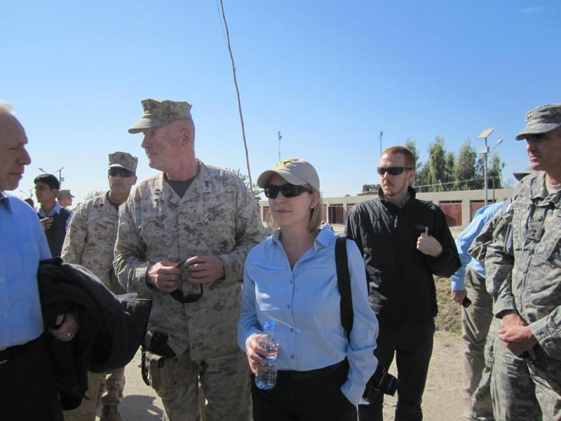 Sen. Kirsten Gillibrand during a trip to Afghanistan and Pakistan