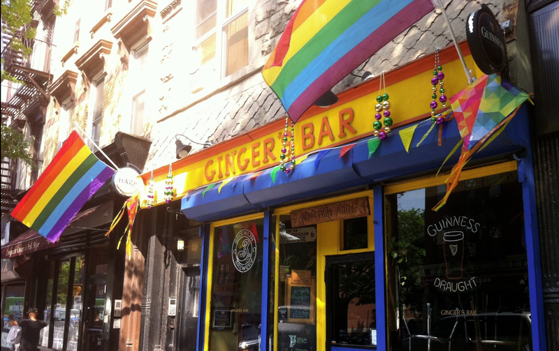 Ginger's bar in Park Slope Brooklyn is one of the few lesbian bars in New York City.