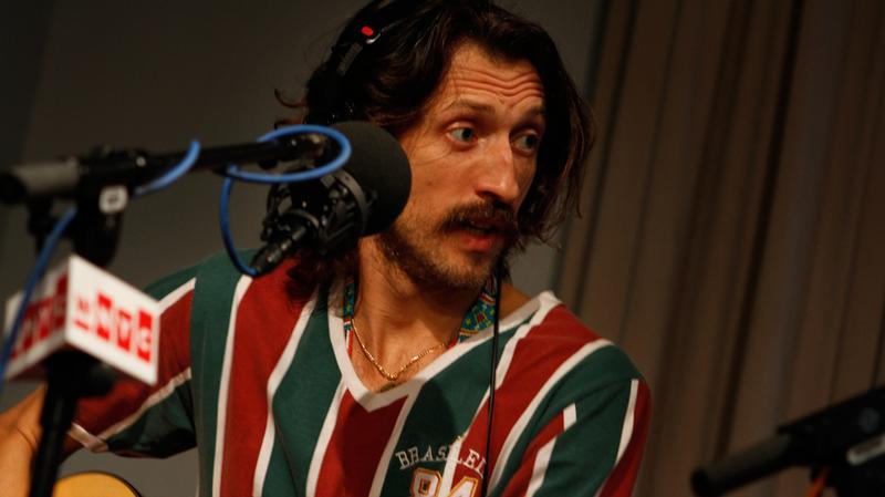 Gogol Bordello's Eugene Hütz performs in the Soundcheck studio.