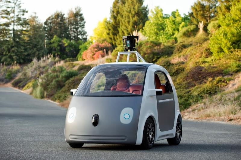 Google's new self-driving car has a face to make it look a little more human.