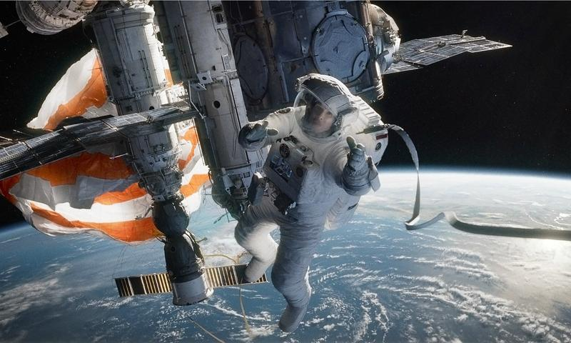 Sandra Bullock in <em>Gravity</em>.