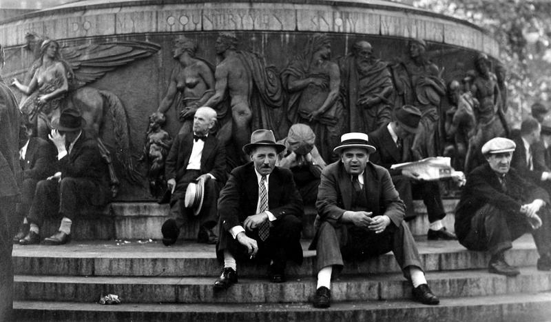 """Union Square, NYC (from the series """"Chelsea Document""""), 1938-39"""