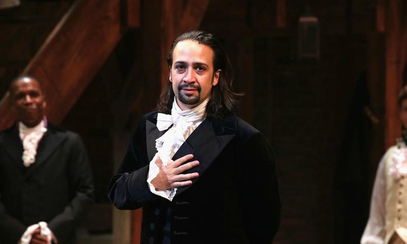 Lin-Manuel Miranda stars as Alexander Hamilton in <em>Hamilton</em> on Broadway