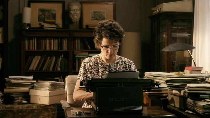"""Barbara Sukowa as Hannah Arendt in """"Hannah Arendt,"""" a film by Margarethe von Trotta. A Zeitgeist Films release."""