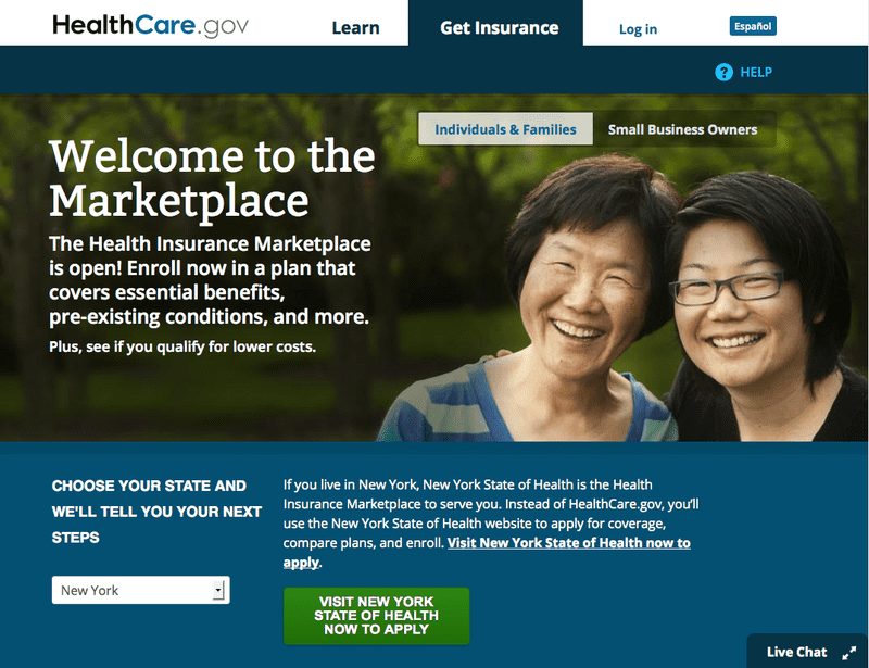 The online clearing house for the Obamacare exchanges went live on Tuesday, October 1st, 2013