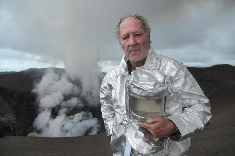 """Werner Herzog in his volcano film, """"Into the Inferno."""""""