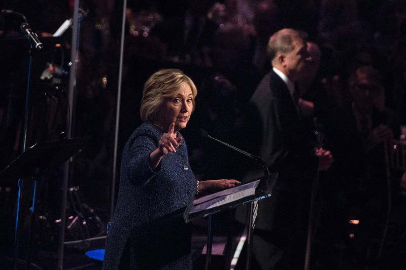"""Hillary Clinton referred to half of Trump's supporters as a """"basket of deplorables"""" during a LGBT for Hillary Gala at the Cipriani restaurant on September 9."""