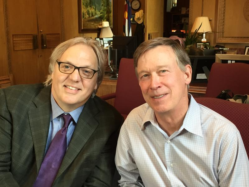 John Hockenberry with Governor John Hickenlooper