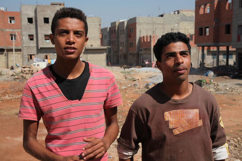 "Best friends Nabil (Abdelilah Rachid, left) and Yachine (Abdelhakim Rachid) as young men, in ""Horses of God,"" directed by Nabil Ayouch"