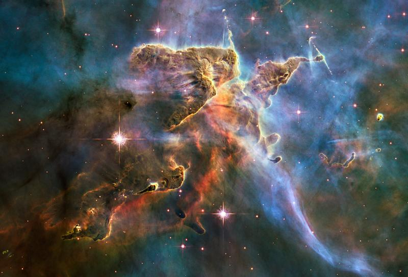 What space looks like, according to the Hubble telescope and some groovy engineers.