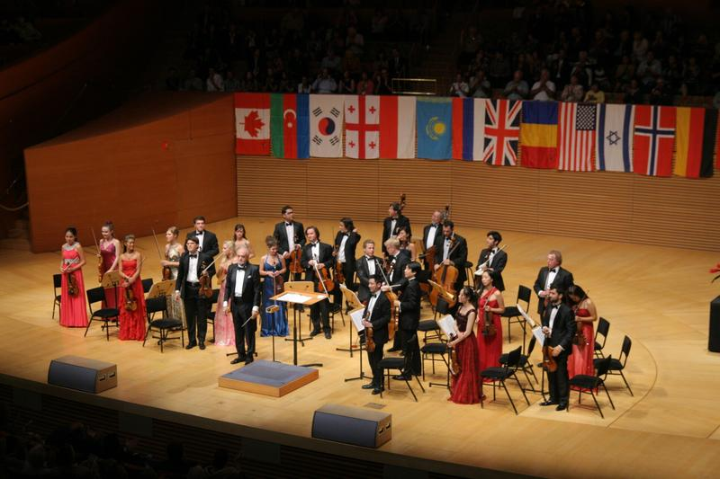 The iPalpiti chamber orchestra at the Walt Disney Concert Hall.