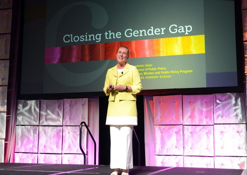Iris Bohnet, author of What Works: Gender Equality by Design, speaks at the 2012 WICT Signature Luncheon.