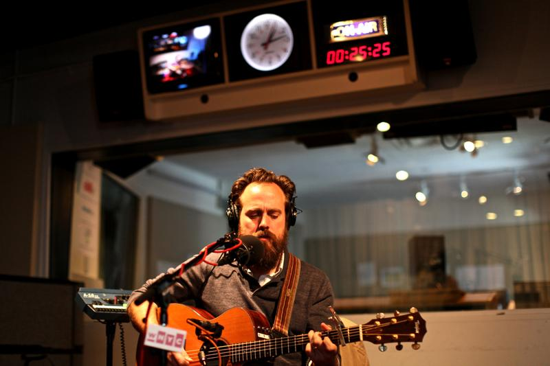 Sam Beam of Iron & Wine performs in the Soundcheck studio.