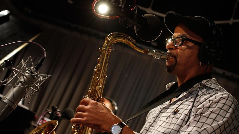 James McBride performs in the Soundcheck studio.