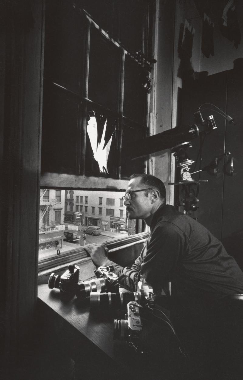 W. Eugene Smith took this self-portrait in front of his fourth floor loft window.