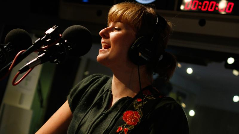 Jenn Grant performs in the Soundcheck studio.