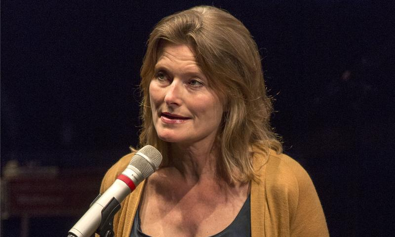 Jennifer Egan onstage at the Brooklyn Academy of Music