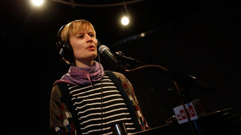 Jenny Hval performs in the Soundcheck studio.
