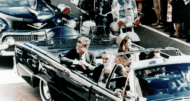 President Kennedy in Dallas, Texas, minutes before the assassination