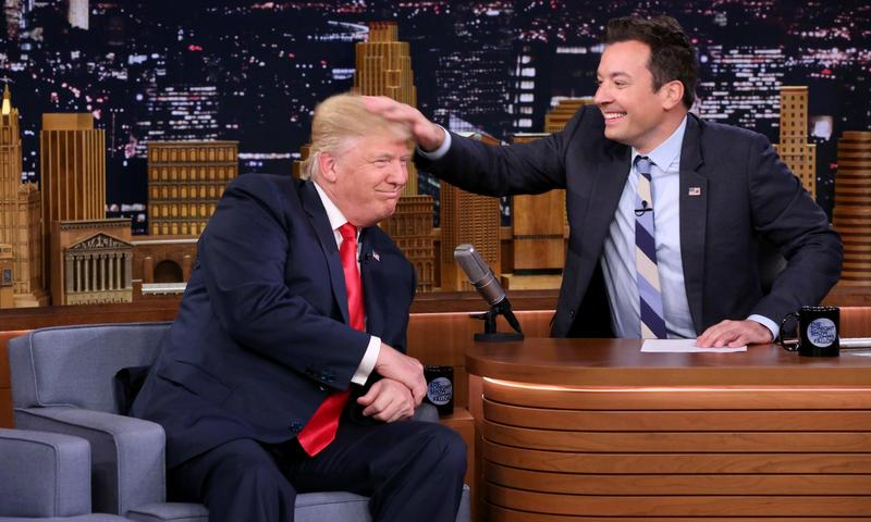 "Donald Trump appears on ""The Tonight Show"" with Jimmy Fallon"