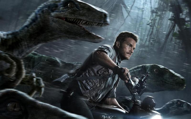 Jurassic World poster (detail)