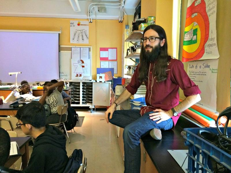 Paul Kehoe teaches science and humanities classes at West Side Collaborative Middle School in Manhattan.