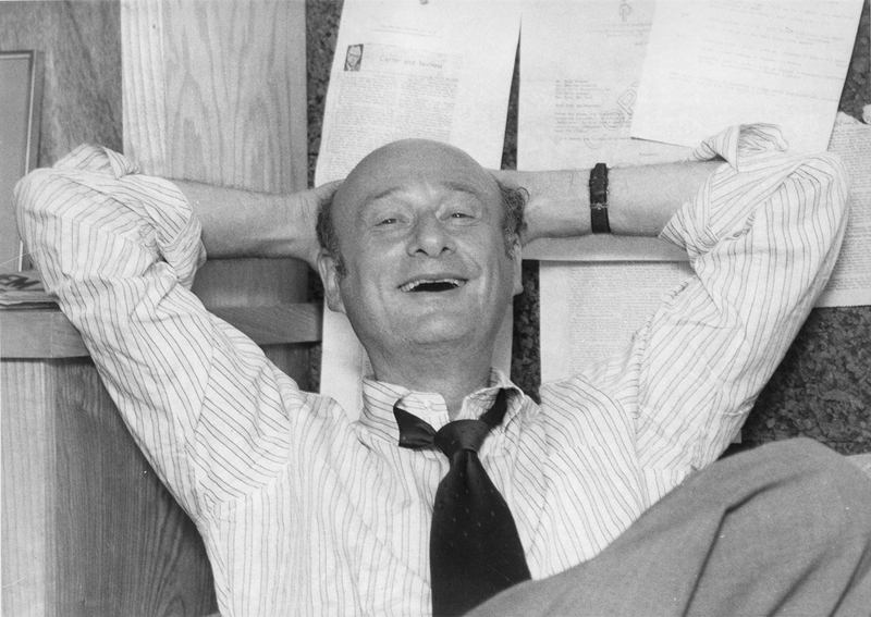 "Ed Koch reclines in the office of his campaign manager in September 1977-as seen in ""Koch""."