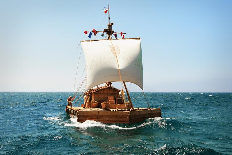 "Kon-Tiki Off To Sea. A scene from ""Kon-Tiki."""