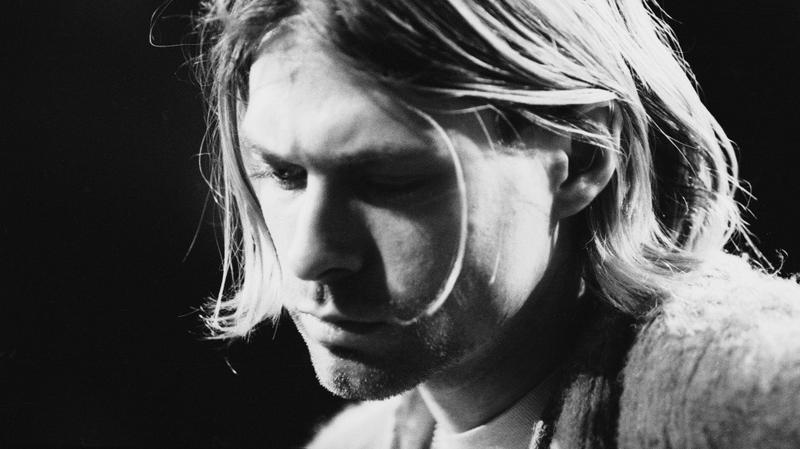 Kurt Cobain performs with Nirvana at a taping of 'MTV Unplugged' in New York on November 18, 1993.