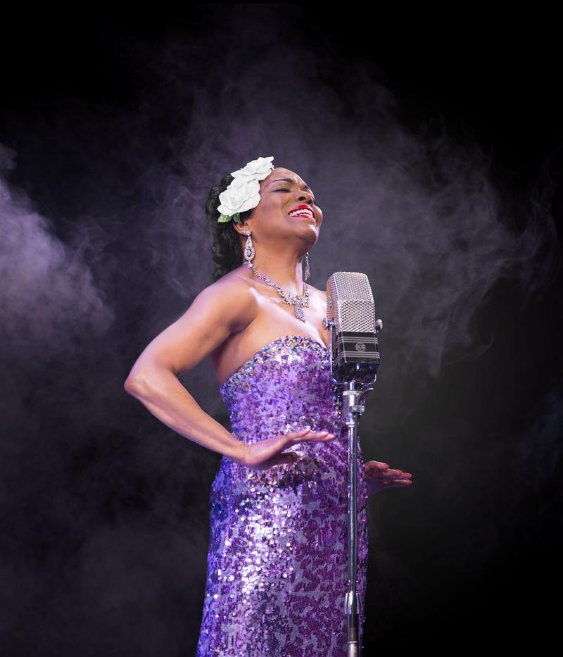 """Dee Dee Bridgewater as Billie Holiday in """"Lady Day"""" at the Little Shubert Theatre"""