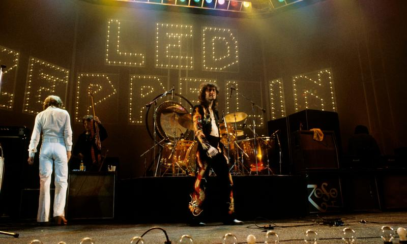 Led Zeppelin, with Jimmy Page center stage