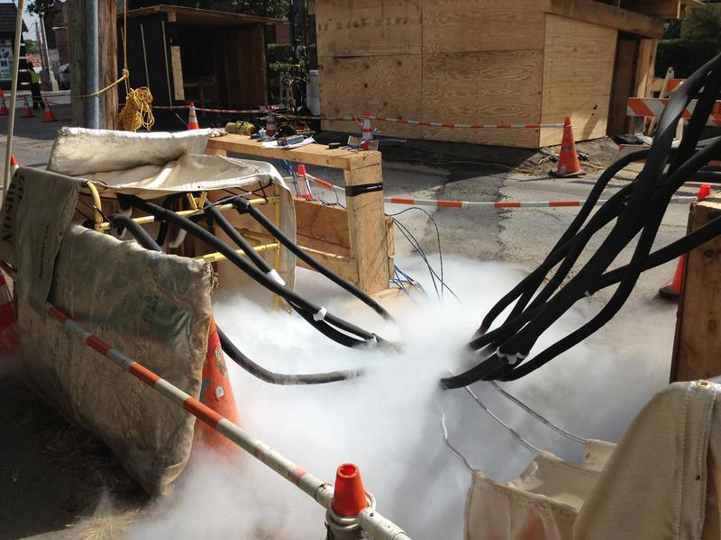 Liquid nitrogen near the Con Ed work site