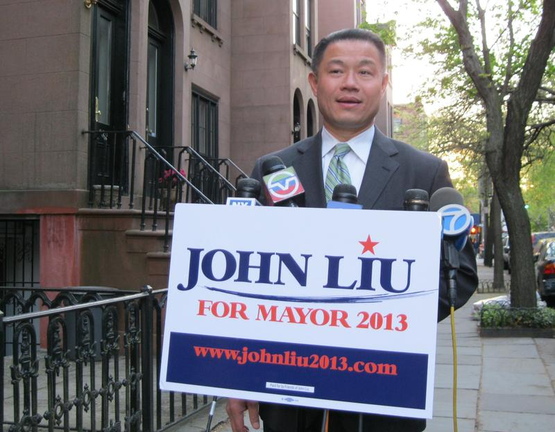 City Comptroller John Liu, speaking at a news conference following convictions of 2 former campaign associates.