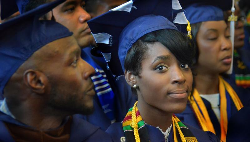 Students at Howard University graduation, class of 2015.