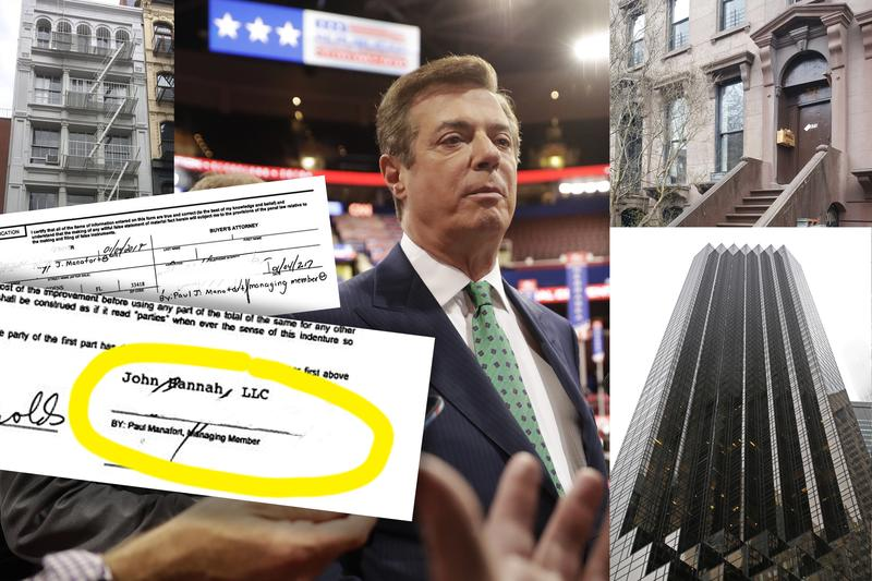 Property records show Paul Manafort owns three properties in New York City.