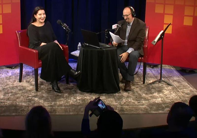 Marina Abramovic is live with Brian Lehrer in the Greene Space.
