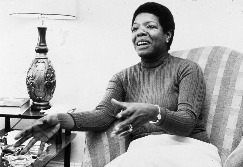 Maya Angelou in the late 1970s/early 1980s.