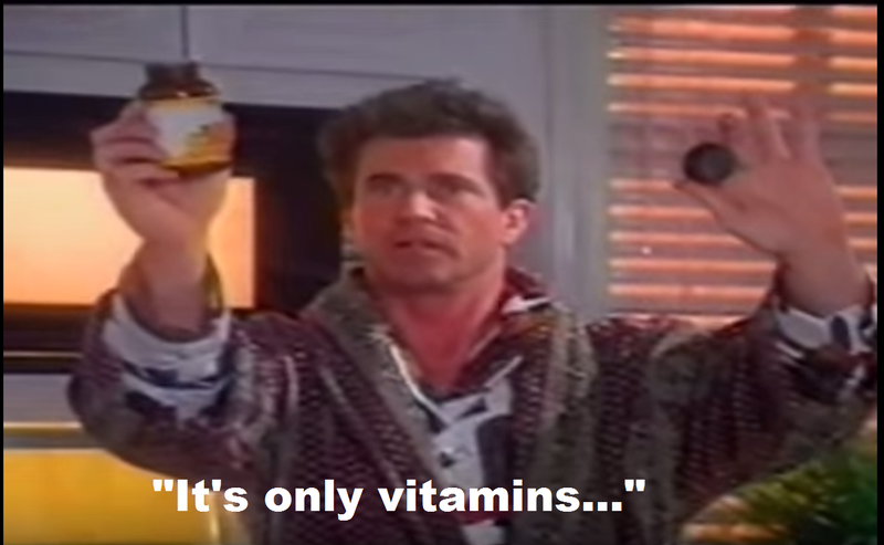 In this '90s ad made by the supplement industry, an FDA SWAT team tries to take away Mel Gibson's Vitamin C.