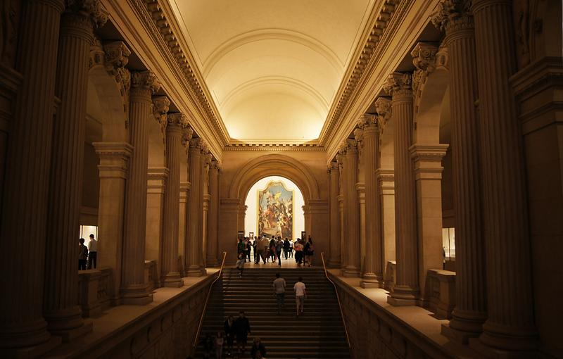 Stairwell in the Metropolitan Museum of Art, New York City.