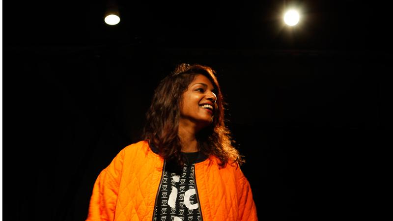 M.I.A. in the Soundcheck studio.