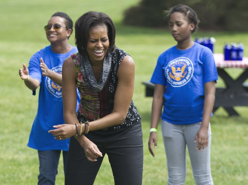 Michelle Obama on the White House Lawn, May 2011
