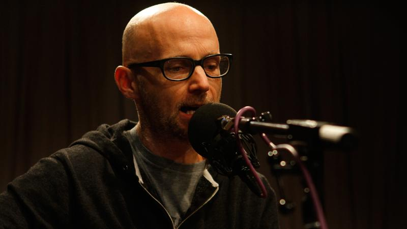Moby performs live in the Soundcheck studio.