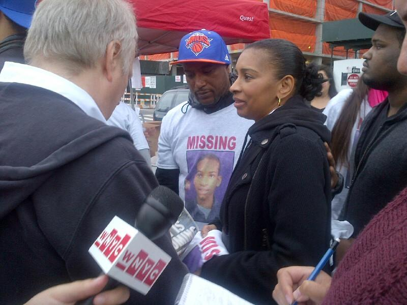 Avonte's mother Vanessa Fontaine with his father Daniel Oquendo