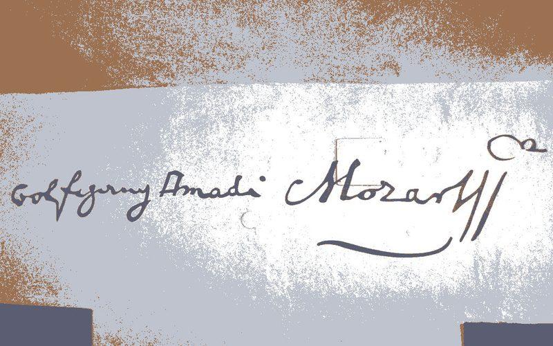 Signature of Wolfgang Amadeus Mozart