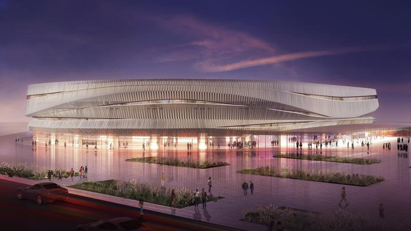 A rendering of the new Nassau Coliseum