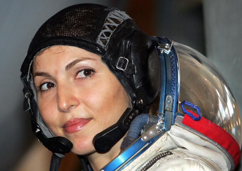 Anousheh Ansari, the first female space tourist.