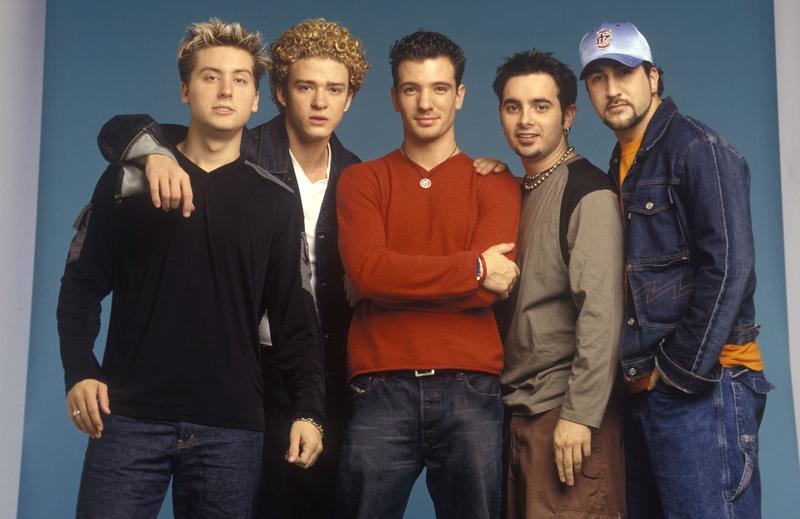 Lance Bass, Justin Timberlake, JC Chasez, Chris Kirkpatrick and Joey Fatone of Nsync pose for a photoshoot circa 1999 in New York City.