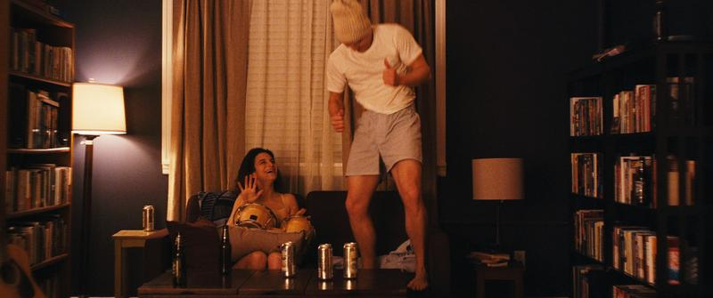 "Jenny Slate and Jake Lacy in the film ""Obvious Child."""