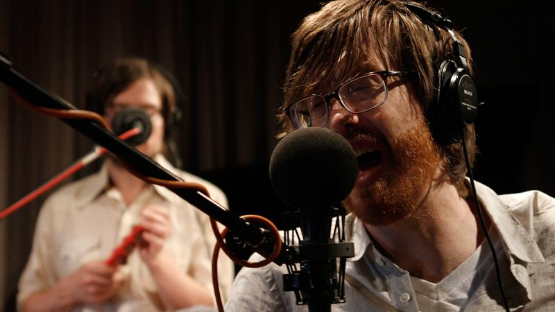 Okkervil River performs in the Soundcheck studio.