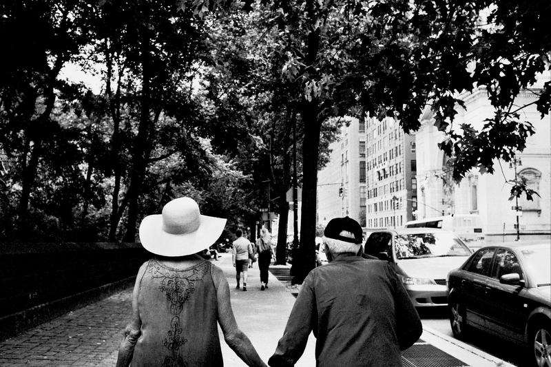 Older couple on the Upper West Side near Central Park